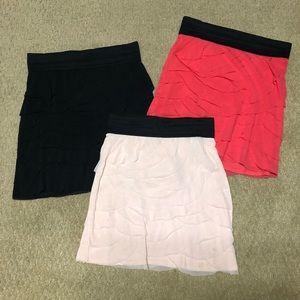 Express Mesh Petal Skirts SET OF 3!!
